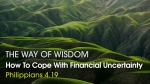 How To Cope With Financial Uncertainty